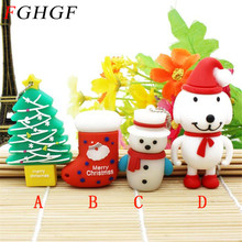 FGHGF Merry Christmas Tree shoes dog USB Flash Drive 2GB 4GB 8GB 16GB 32GB Memory Stick USB 2.0 Pen Drive christmas gift