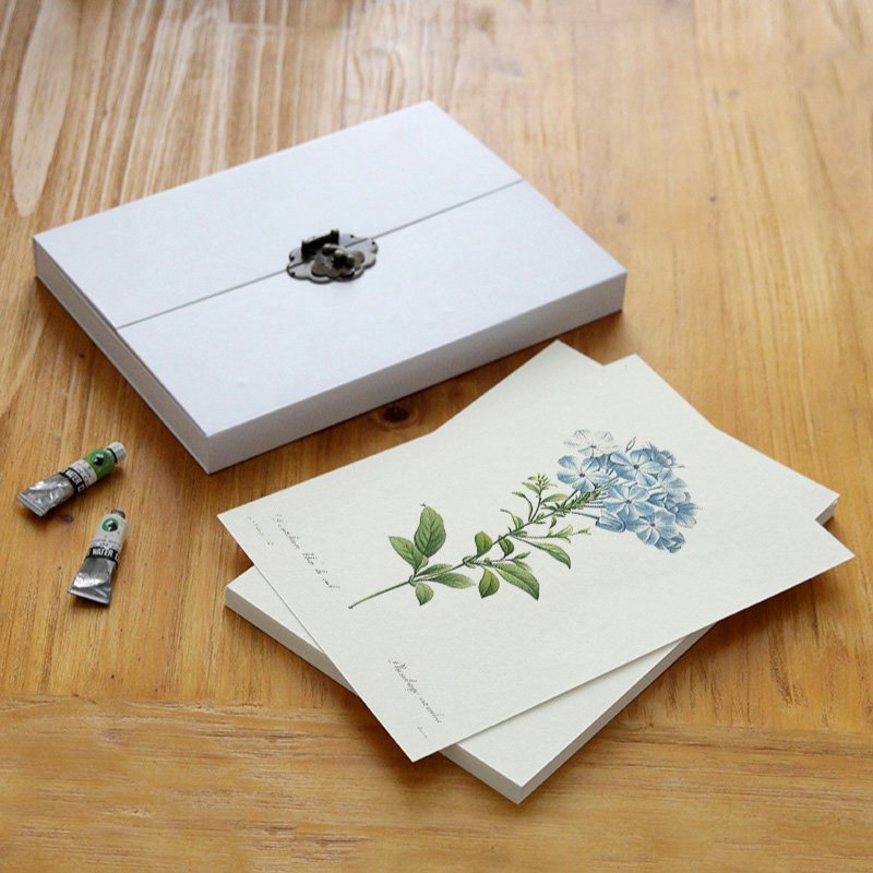 A4 blank page 350g sketch watercolor paper water-soluble color painting paper gouache paper gift box package art supplies <br>