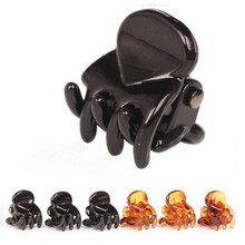 Popular 12pcs/Bag Black Hair Clips Clipper Clamp For Women Ladies Plastic 6 Claws Hairpin Hair Styling Tools(China)
