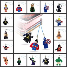 1pcs/set Avengers Super Hero Mobile Phone Backpack Hanging Rope Pendant Ornament Cartoon Figure hang strap Lanyard decoration