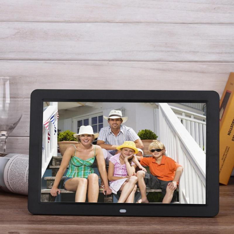 ALLOYSEED 12 Inch Digital Photo Frame 1280X00 HD LED Video Display Electronic Album Picture USB MP3 Music Player Clock Calendar 20