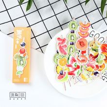 30 pcs/pack Sweet Fruit Bookmark Paper Cartoon Animals Bookmark Promotional Gift Stationery dual Note Message(China)