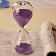 60 Minutes Colorful Transparent Glass Sand Timer Clock Hourglass Sandglass Home Decor Wedding Decoration Accessories Gifts