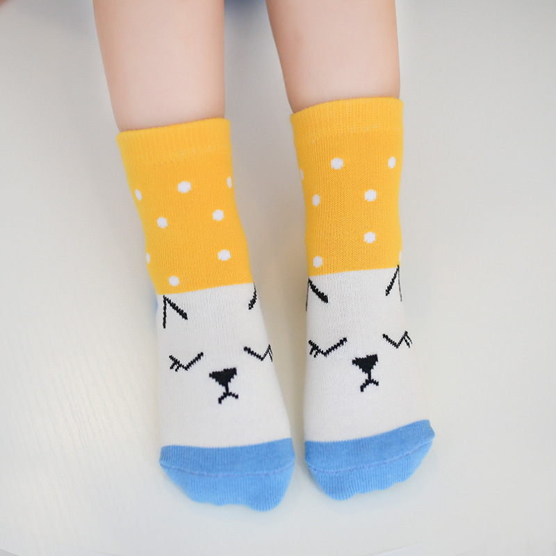children socks cotton socks wholesale Android products in autumn and winter together some lovely cartoon cat socks color(China)