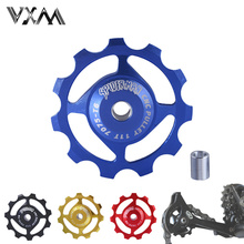 Bicycle Rear Derailleur 7075 Aluminum 11T MTB Road Bike Bicycles Rear Derailleur Pulley Roller Idler Bearing Jockey Wheel Parts(China)
