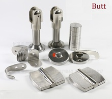 Toilet Restroom Bathroom Stainless Steel Partition Hinge Bracket Holder Fittings Set Public(China)