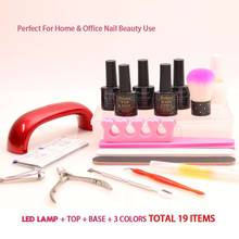 volodia Nail Manicure Pedicure Set Acrylic Art Nails Led Lamp Dryer Kit Gel Nail Polish Soak Off Top Base Kit With Nail Tools