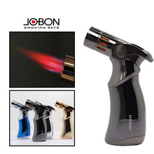 ( Lighter No gas) JOBON Brand 4 Jet Turbo Torch metal butane gas lighters,Windproof inflatable Cigar cigarette lighter
