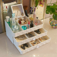 European Style Cosmetic Storage Box 2 - Layer Drawer Type Dresser Table Top Decoration 30*18*12.5CM