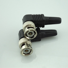 Wholesale 100Pcs/Lot Coaxial Cable Rg59 Cctv Bnc Connector Bnc Male Cctv Accessories For Cctv Video Security System(China)