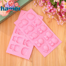 Hello Kitty cake mold ice cube tray Silicone Mold Soap Candle Moulds Sugar Craft Tools Bakeware Chocolate Moulds D570