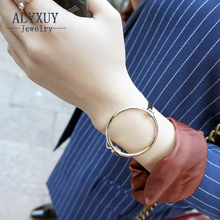 New fashion accessories jewelry simple copper round  bangle  women lovers' gift B3439