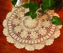 Round cotton placemat cup HOT coaster pot mug holder kitchen Handmade table place mat cloth lace Crochet tea doily dining pad