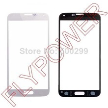 5pcs/lot Lens Touch Screen Digitizer Glass Replacement Panel For Samsung Galaxy S5 i9600 White by free shipping(China)