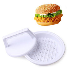 DIY Hamburger Presses Beef Grill Burger Makers Meat Pie Mold Plastic Patties Making Device Machine Kitchen Cooking Tool(China)
