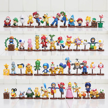 13pcs/set Super Mario Bros figures 3-6cm mini figures Toy Goomba Luigi Koopa Troopa Mushroom game Collection PVC model Dolls