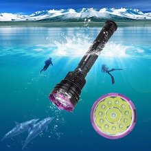 Real 30000LM 12X XM-L T6 LED Diving Flashlight Waterproof Hunting Torch Lantern With 3x 26650 Battery Pack+Charger(China)
