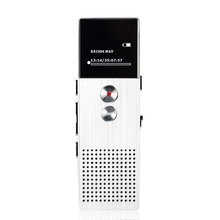 Professional Audio Recorder 8GB Metal Voice Tracker Portable Business Digital Voice Recorder Telephone Recording MP3 Player(Hong Kong)