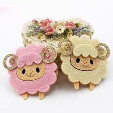 Multi Colors! Cute Sheep Hairpins Glitter Horn Cartoon Animal Hair Clips Girls Children Hair Barrettes for Kids Hair Accessories