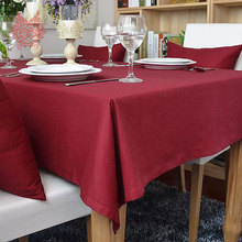 Hot sale Modern style dark red Table Cloth 100%cotton table cover  for Dining, Kitchen Home Textile SP1119