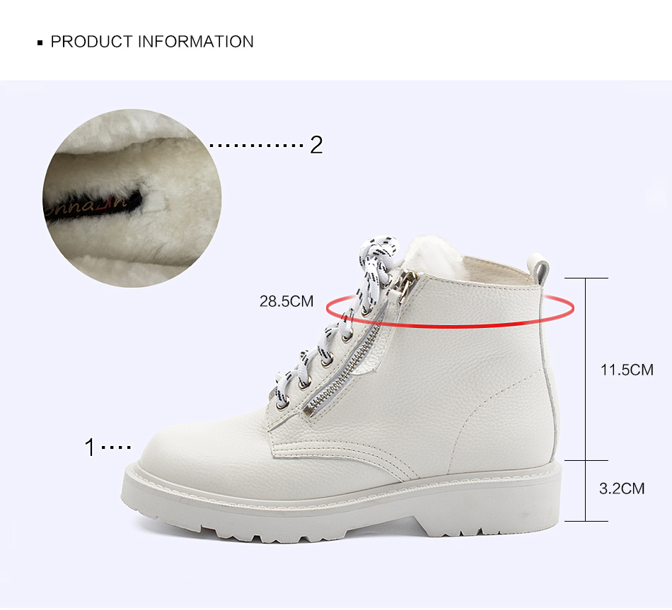 Donna-in Winter Martin Boots Women Platform Ankle Boots Heels White Motorcycle Punk Booties Fur Lace Up Snow Shoes for Ladies (9)