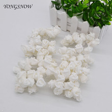 3 Mini PE Foam Rose Flower White 2CM Artificial Flowers Handmade DIY Wedding Decoration Home&Garden Crafts 8Z - Commodity woman Store store