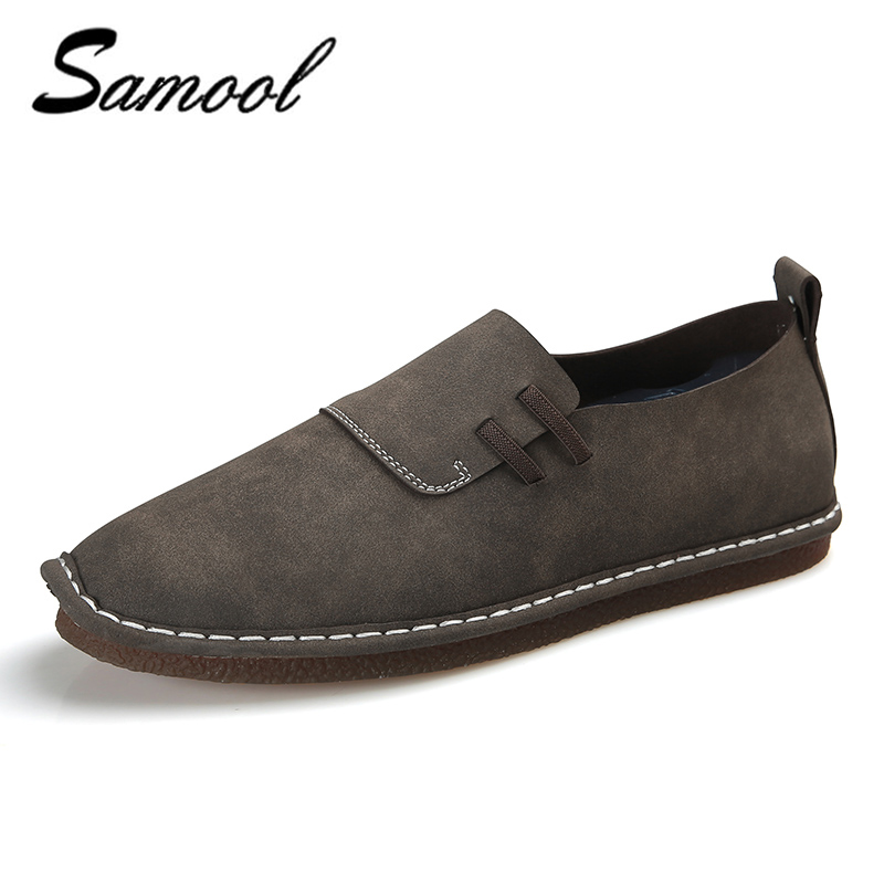 2018 fashion leather comfortable casual shoes men oxfords shoes soft breathable slip on men flats driving shoes Moccasins xxz5<br>