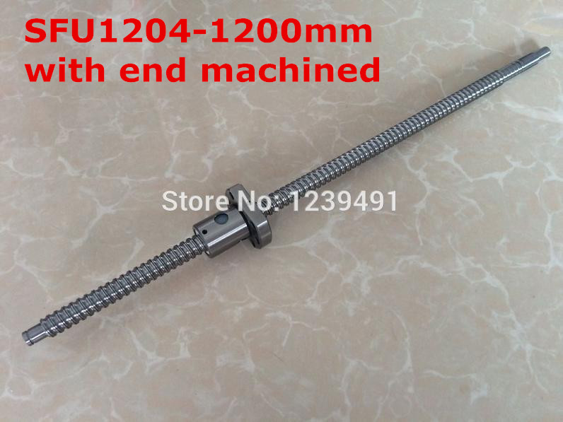 sfu1204  rolled ballscrew   1200mm+ Ballnut  for BK/BF10 standard processing cnc parts<br>