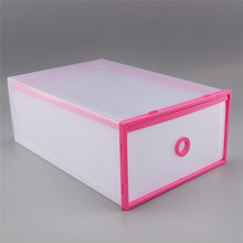 Clear Plastic Shoe Box Stackable Home Storage Boxes Drawer Container Holder new(China)