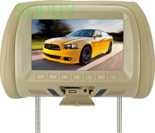 Headrest LED color monitor 7 Inch TFT LCD Screen Car Video Products General  Car Headrest Monitor  AV USB SD MP5 FM speaker