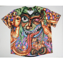 Real American Size  trippy demon 3D Sublimation Print Custom made Button up baseball jersey plus size