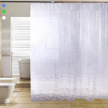 3D Water Effect Cube Design water resistance bathing Shower Curtain Fabric Waterproof Home Bathroom Curtains 180*180cm A2(China)