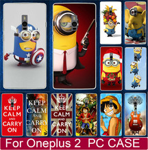 Hot Selling Cartoon Despicable Me Minions Piece PC Hard Cases For Oneplus 2 Two One plus 2 Two Cell Phone Case Back Cover Shell(China)