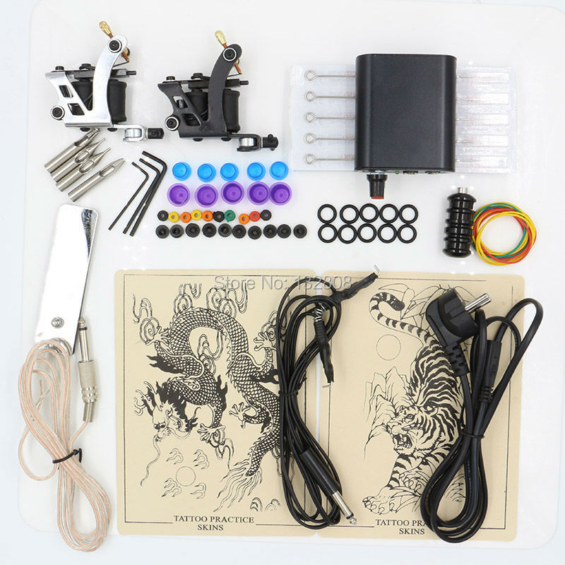 Hot Selling 1 Set Professional Body Tattoo Machine Power Supply Tattoo Equipment Tattoo Kit For Tattoo Beginner Free Shipping <br>