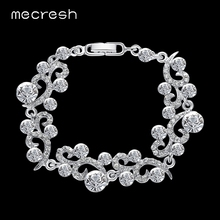 Buy Mecresh Elegant Crystal Wedding Bracelets Women Silver Color Rhinestone Friendship Pulseras Jewelry Christmas Gift MSL284 for $4.59 in AliExpress store