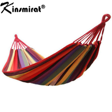 Portable 190 x 80cm Outdoor Hammock Sleeping Bag Outdoor Sports Home Travel Camping Swing Canvas Stripe Hang Bag