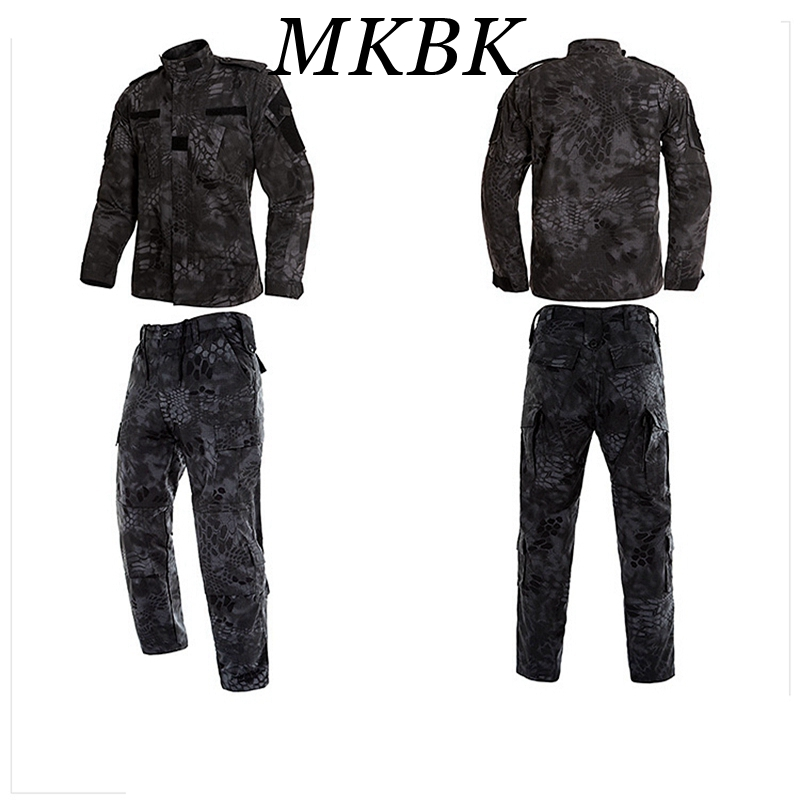 New Kryptek Typhon Tactical US Army Camouflage Combat Uniform Men Military Clothing Set Airsoft Outdoor Jacket + Pants Multicam<br>
