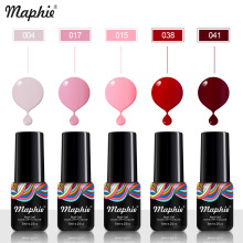Maphie 78 Color UV Gel Shiny Pure Color UV Nail Gel Polish Soak Off Nail Art Led UV Nail Polish Gel Professional Black Color Gel(China)