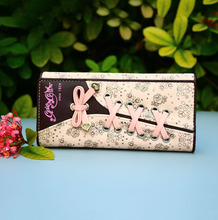 PACENTO New Designer Wallets Female Purse Women Wallet Women's Pink Purses Passport Cover Pattern Bayan Cuzdan Luxury Portfolio(China)