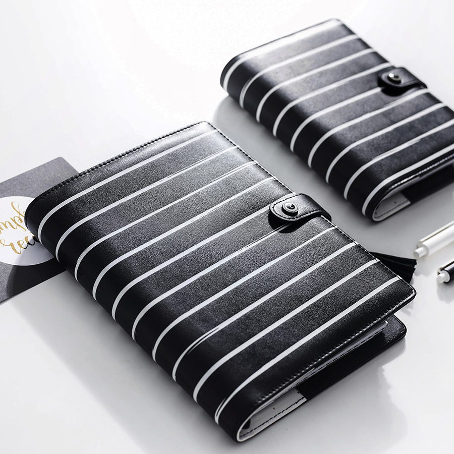 Lovedoki Striped A5A6 Notebook Personal Planner Organizer Agenda Diary Schedule Book Stationery Office &amp; School Supplies<br>