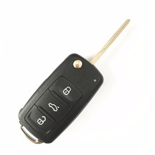 New 3 button Folding Car key Flip Remote Switchblade Key Replacement blank Case FOB Shell for VOLKSWAGEN Seat Skoda for VW