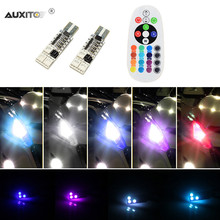 AUXITO 2x T10 RGB LED Car Parking Lights For Honda Toyota Lexus Mazda Nissan Mitsubishi Suzuki Infiniti For Subaru Hyundai Kia(China)