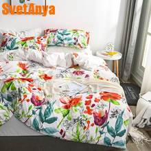 Svetanya Floral Duvet Cover +Pillowcase Microfiber Bedding Set Single Full Queen King Double Size(China)