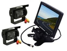 "2x 18 LED IR NIGHT VISION REVERSING CAMERA +7"" LCD MONITOR CAR REAR VIEW KIT FOR BUS TRUCK MOTORHOME VANS(China)"