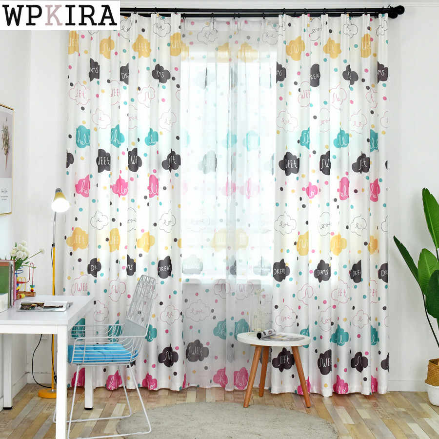 cartoon curtains for living room boys girls kids curtains for bedroom children window high shading curtain 163&20
