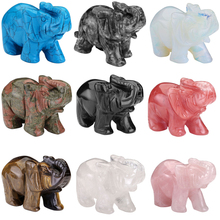 "New Hot Selling 1 pc Natural Elephant Stone Carved Artesanato Chakra Figurine Healing Feng Shui Craft Reiki 3"" With Gigt Box"