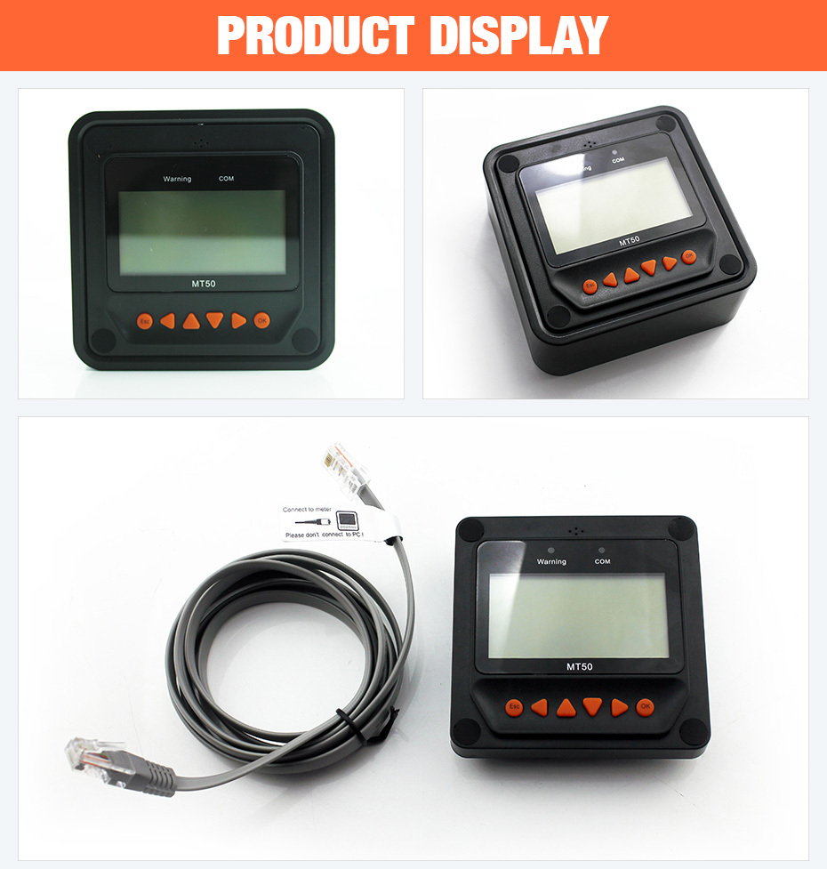 Remote Meter Display MT-50 for EPever EPsolar MPPT Solar Charge Controller Tracer-AN Tracer-BN TRIRON XTRA ViewStar-AU BN Series_04