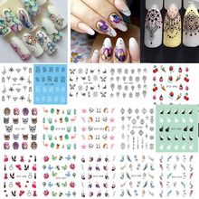 1 Sheet Nail Stickers Flower/Necklace Jewelry/Fruit Nail Art Water Transfer Stickers Decals DIY Manicure Decor BESTZ489-512