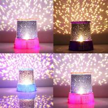 Hot Romantic Amazing Cosmos Moon Colorful Master Star Sky Universal Night Light Kid Chidren Projector lamp Festival Gift Present(China)