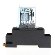 8 Pin MY2NJ Relay 24 V DC Small Relay 5A DPDT Coil With Base Socket #S018Y# High Quality